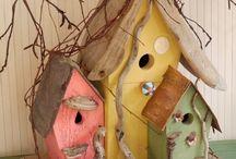 Nichoirs, birdhouses / Un petit endroit douillet bien au chaud, pour faire de beaux petits