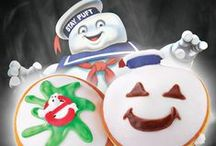 There's Something Sweet In The Neighborhood! / Krispy Kreme and Sony Pictures Consumer Products have joined together to mark the 30th Anniversary of  the iconic blockbuster motion picture franchise with an exclusive offer of two new marshmallow Kreme™-filled Ghostbuster treats inspired by the supernatural comedy's sweetest villains. / by Krispy Kreme