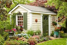 Petites cabanes de jardins,  Green houses / Bucoliques à souhait