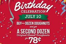 78th Birthday Celebration / You're invited to celebrate our 78th birthday on 7/10/15. Buy any dozen and get a 2nd dozen Original Glazed for just 78 cents KrispyKreme.com/Birthday / by Krispy Kreme