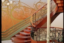art nouveau—interiors / furniture, lighting, rooms, staircases, household items / by Dicentra spectabilis
