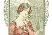 art nouveau—illustration / prints, posters, fonts, paintings, tiles, motifs / by Dicentra spectabilis