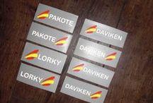 Pegatinas para bicicletas / Vinilo muy resistente, ideal para personalizar tu bici.