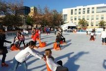 The Rink in Downtown Burbank / Themed entertainment, twinkling lights and joyful music add to the holiday spirit at The Rink in Downtown Burbank. Before or after a 90 minute session, skaters are invited to explore hundreds of shops and eateries decked out for the season. The Rink in Downtown Burbank is located next to Burbank City Hall at the corner of Third Street and Orange Grove Avenue. Open each holiday season.