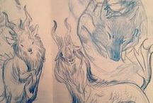 Sketchbook / Inspiring sketchbook drawings.