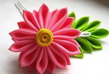 DIY Fabric flower, brooch, craft