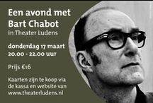 Activiteiten 2016 ~ Bart Chabot / Activiteiten die de bibliotheek organiseert in maart dit jaar. Variërend van lezingen van schrijvers tot diverse voorstellingen. Op 17 maart komt schrijver Bart Chabot naar Theater Ludens in Voorburg.