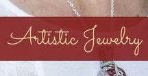 Artistic Jewelry / Wearable art - mostly fused glass and wire wrapped!