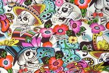 Skulls and Skeletons / Some of our spooky skull prints