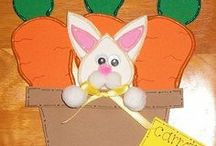 Easter / Hoppin' down the Bunny Trail Great for gifts, hang on your windows, doors....it's endless where you can put these! They are durable and made to last for many years.
