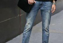 Boy-friend jeans Style  / Fashion street Style