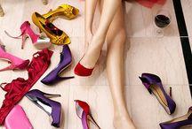 Red details / Fashion shoes, bag, dress