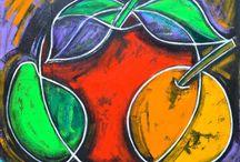 Frutas / Digital art, inspiration, passion, feelings, new art, paint, colorful, real art, fruits, natural.