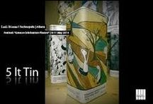 Ladi Biosas λάδι βιώσας│TenekesErgon 2015│New Image for the Tin Can industry / Tenekes Ergon 5 Lt. Tin Can Arty Tenekes. This project aims to bring closer Art as a mean of expression with the packaging of a product as well as re-position Greek olive oil in the world market. We strongly believe on the united collaboration of all creators/designers/originators even in the creation of a food product. The tools of the Ladi Biosas team are the creative minds, the passion for quality, good design and playing with different art forms.