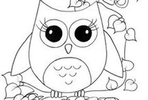 Cute Drawn Owls