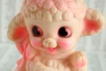 Vintage Squeaky Toys  [ Vintage Pieppoppetjes ]