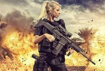 Airsoft - Girls with Guns / Girls with guns, models, professional photo shoots etc.