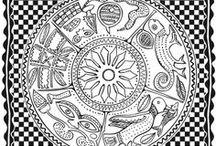 Zentangles et divers a colorier / dessins a colorier
