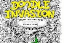 doodle invasion a colorier