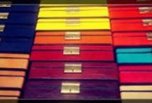 Colors on leather / Cool colorful accessories by Cepi Pelletterie