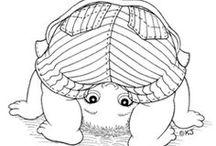 Petites filles- Petits Garçons -Elfes a colorier / Petites filles- Petits Garçons -Elfes a colorier