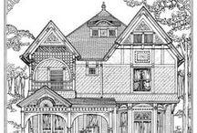 Maisons a colorier / maisons a colorier
