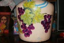 Objetos para decorar / Reciclado, pintura sobre objetos.