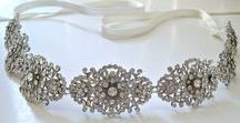 Bridal beaded crystal, pearl sash