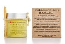 Organic Herbal Body Food / Self Health Revolution's Herbal Body Food™ is the world's 1st Organic, Edible, 100% Plants, Antioxidant Body-Butter that provides deep moisture therapy and intense skin repair for the entire Body (Face, Neck, Chest, Arms, Hands, Legs, Thighs, etc.). It also addresses the 10 most visible signs of aging: Wrinkles, large pores, dryness, redness, discoloration, skin tone, firmness, smoothness, radiance, brightness.