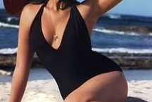 Curvy is the New Black / Swimwear is for everyone! Plus-sized bikinis and one pieces for our curvy babes.