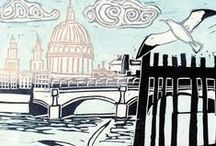 London Art Published By Green pebble / Greeting cards by British artists, celebrating life in our Capital.