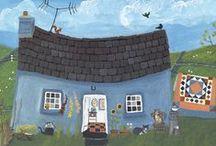 Valeriane Leblond, Painter / Quilts, quilting, folk art, valeriane Leblond