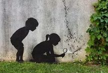 Streetart / Quand le street art joue avec la nature !