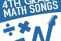 4th Grade Math Songs / 4th Grade Level Math songs, activities and music videos from YouTube that drive engagement and enthusiasm in the classroom.  Songs about long division, types of lines, equivalent fractions and other common core standards-based concepts.