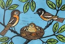 Gerard Hobson, Printmaker / I grew up with a love of wildlife and art. In 1984 I qualified as a zoologist from Bangor University and worked for a few years for a Wildlife Trust as a botanist and illustrator. I then went on to work freelance as an artist. Some years ago I completed a printmaking course; I particularly enjoyed the technique of linocut which enabled me to develop my own style. I now work from my garden studio in York producing limited edition hand-coloured lino prints of birds and animals.
