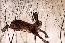 We're All Mad Hare! / We have one or two beautiful hares in our greeting card collection.....and a few rabbits too!