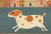 Dogs In Art By Green Pebble / Beautiful Greeting Cards featuring our favourite four legged friends