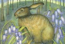 SPRING Greeting Cards By British Artists, Published By Green Pebble / A beautiful collection of greeting cards by UK artists featuring Spring images such as; Hellebores, Daffodils, Bluebells, Snowdrops, Tulips and lambs.