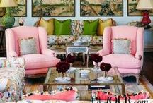 Inspirational Interiors / Other peoples home and interiors that make me drool. Brass, pink and eclectic furniture that I would like to own.