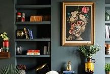 Dark Interiors / Inspiration to move over to the dark side in interiors with dark paint colours and furniture.