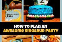 dinosaur roar birthday themed party ideas