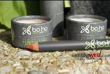 Swatches BoHo Cosmetics / Collezione degli swatches di BoHo Cosmetics, make-up bio certificato su www.vecchiabottega.it