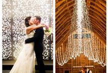 Wedding Lights / The easiest, and least expensive way to produce the aura of romance is to add tiny white lights, and lots of them. Lights add just the perfect amount of ambiance. You can hang the lights everywhere you can think of.