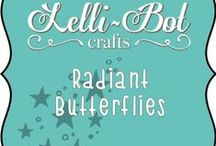 Radiant Butterflies / Radiant Butterflies inspiration from Lelli-Bot Crafts