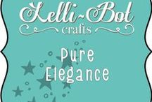 Pure Elegance ~ Butterflies & Lace / The very first collection from Lelli-Bot Crafts