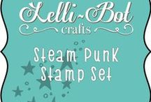 Steampunk Stamps / Steampunk Stamp Set from Lelli-Bot Crafts