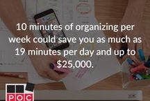 """#POCHacks / Professional Organizers in Canada present organizational """"Lifehacks"""" to better organize and live your life."""