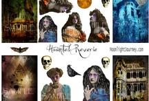 Moonlight Journey's Halloween  Collage Sheets 2012