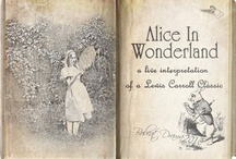 """Wonderland Book Covers / ...""""and what is the use of a book,"""" thought Alice,  """"without pictures or conversations?"""""""
