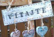 Paletten, Holz, Herz, Willkommen / Alles aus Paletten und Holz